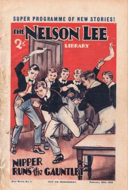 """Nipper - New Boy!"", The Nelson Lee Library 4th series No. 1 � Amalgamated Press 1933. Click to download"